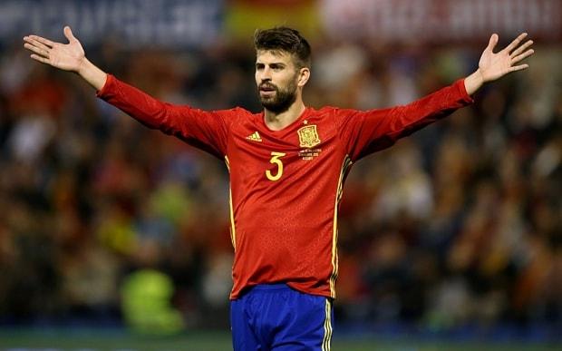 Spain -Gerard Pique - تیم ملی اسپانیا - اسپانیا - بارسلونا