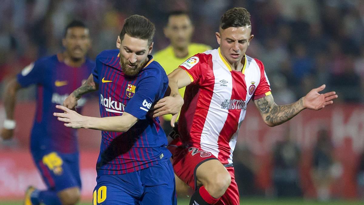 هافبک دفاعی خیرونا - مهاجم آرژانتینی بارسلونا - خیرونا - بارسلونا