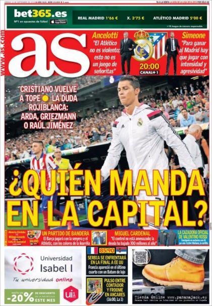 عناوین مهم روزنامه های کشور اسپانیا؛ 13 سپتامبر 2014