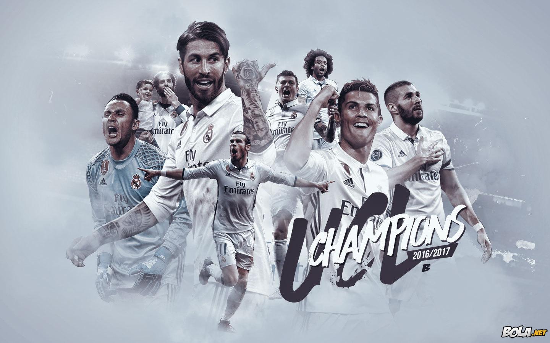 والپیپر شماره 945 ) قهرمان فصل 17-2016 لیگ قهرمانان اروپا > رئال مادرید |  طرفداری